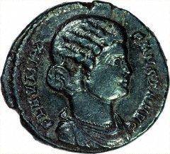Portrait of Fausta on Antoninianus