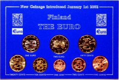 Complete Finnish Euro Coin Set