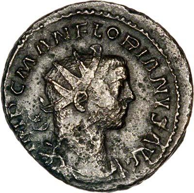 Portrait of Florian on Antoninianus