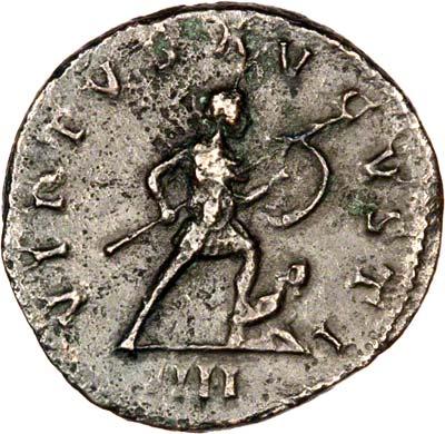 Virtus Aug on Reverse of Antoninianus of Florian