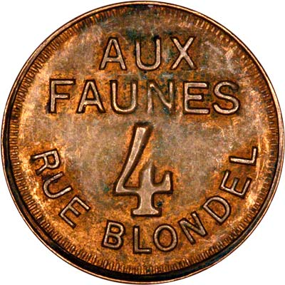 Reverse of French Brothel Token