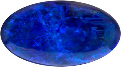 9.75mmx5.4mm Oval Black Opal