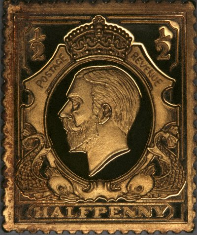 George V Halfpenny Stamp