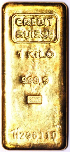 One Kilo Credit Suisse Gold Bar