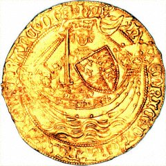 Henry VI Gold Noble Obverse