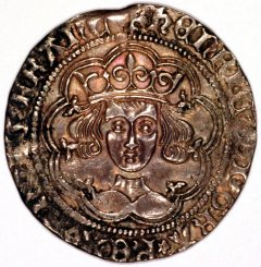 Obverse of Henry VI Calais Silver Groat