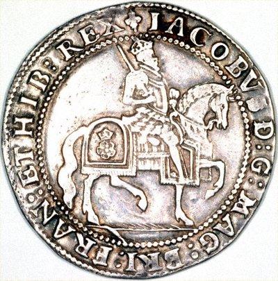 Hammered Silver  James I Crown