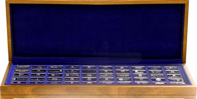 First International Bank Silver Ingot Collection in Presentation Box