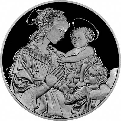 Silver Master Piece Medallion Madonna & Child with Angels by Fra Filipo Lippi