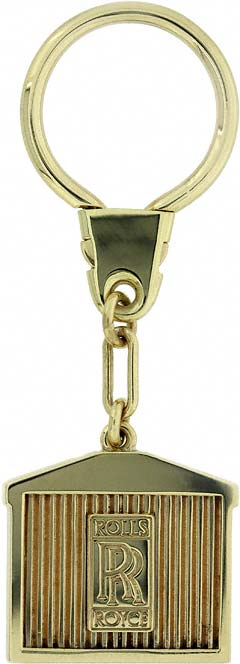 9ct Gold Rolls Royce Keyring