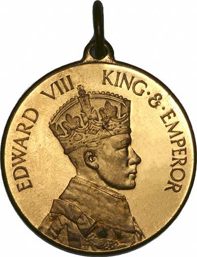 Edward VIII 'King & Emperor' on Obverse of 1937 Coronation Medallion