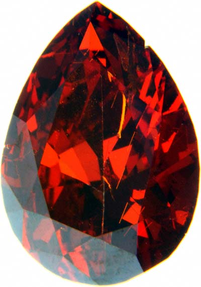 Enhanced Red Pear Shaped Diamond