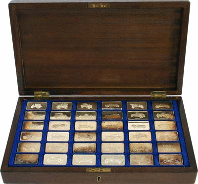 Vintage Car Collection Of Silver Ingots