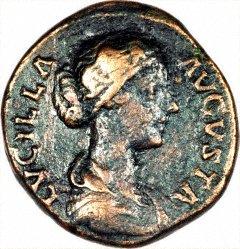 Portrait of Lucilla on a Copper Sestertius