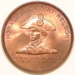 Nelson on the Obverse of Foudroyant Medallion
