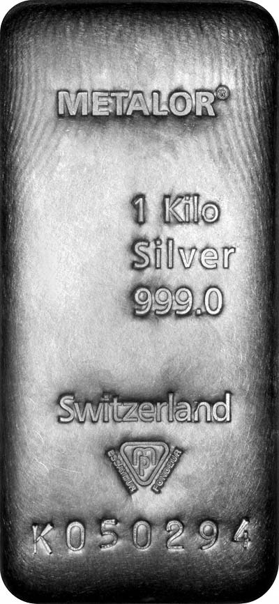 Metalor One Kilogram Silver Bar