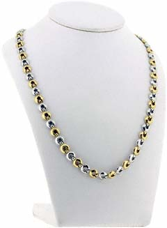 18ct Gold Bi- Colour Necklace