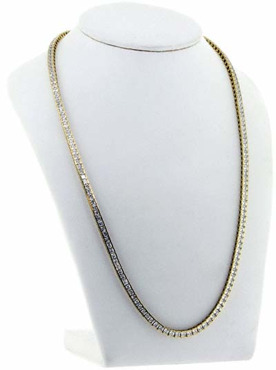 Cubic Zirconia Necklace in 18ct Yellow Gold