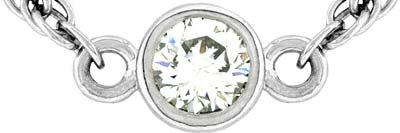 Diamond Set Necklace in Platinum