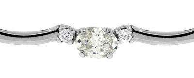 Diamond Set 18ct White Gold Necklace