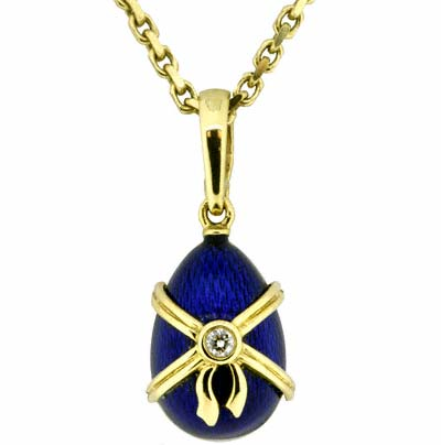 Second Hand Faberge Egg on 18ct Yellow Gold Chain