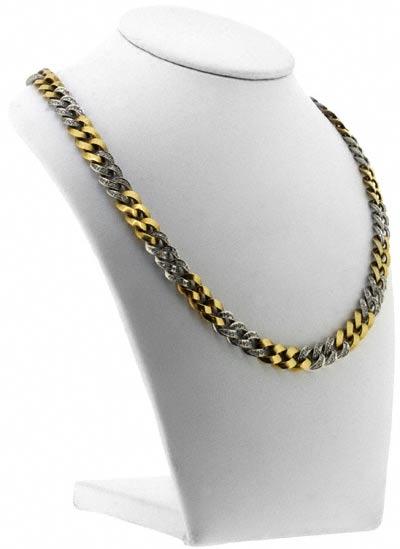 Second Hand Fancy Diamond Set Curb Necklace