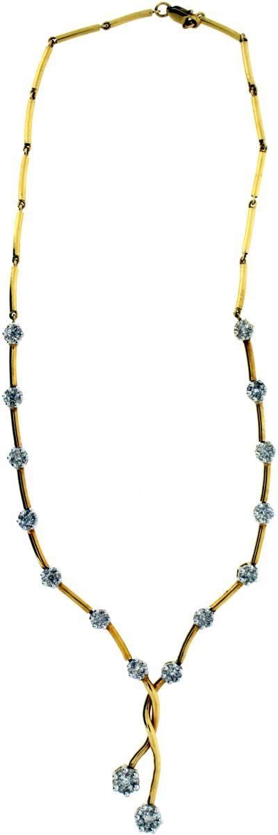 Second Hand Fancy Diamond Drop Necklace