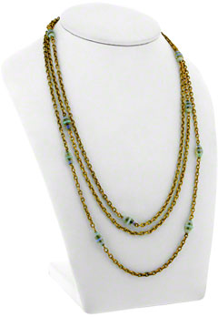 Second Hand Triple Strand Opal Necklace