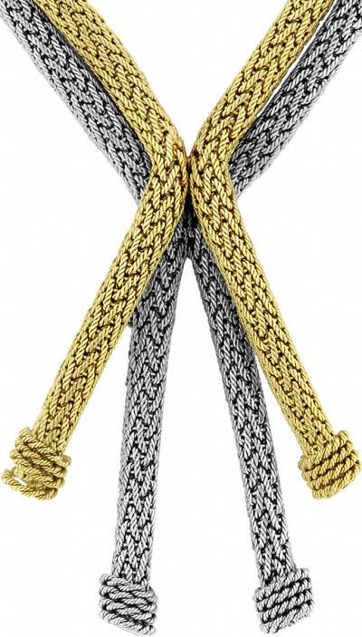 Two Colour 'Rope' Necklace