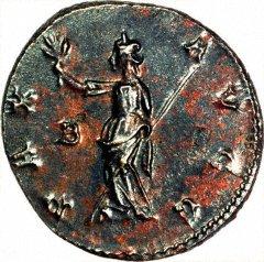 Minerva on Reverse of Antoninianus of Claudius