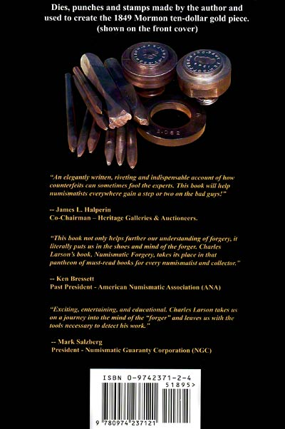 Numismatic Forgery by Charles M. Larson Back Cover
