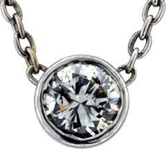 0.51ct Modern Brilliant Diamond Pendant in 18ct White Gold