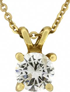 White Diamond Pendant