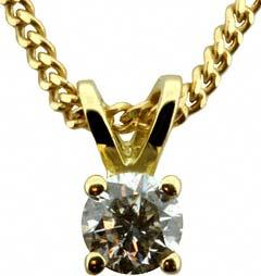 0.24ct Diamond Pendant in 18ct Yellow Gold