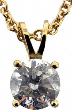 1.06ct Diamond Pendant in 18ct Yellow Gold