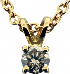 0.21ct Diamond Pendant in 18ct Yellow Gold