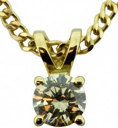0.26ct Diamond Pendant in 18ct Yellow Gold