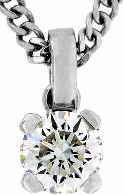 0.68ct Second Hand Diamond Pendant in Platinum