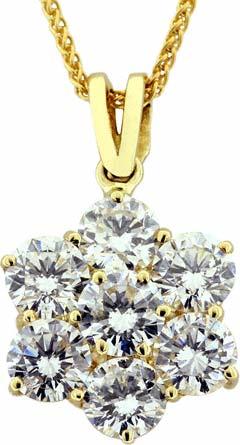 0.97 Diamond Pendant in 18ct Yellow Gold