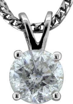 1.10ct Modern Brilliant Diamond Pendant in 18ct White Gold