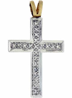 Diamond Set Cross in 9ct Gold