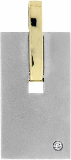 14ct Gold Dog Tag Pendant