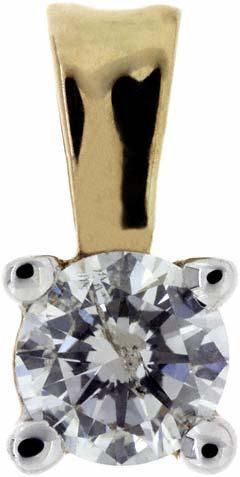 0.20 Diamond Pendant in 9ct Yellow Gold