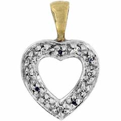 Diamond Set Heart in 9ct Gold