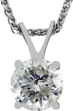 1.00ct Diamond Pendant in 18ct White Gold