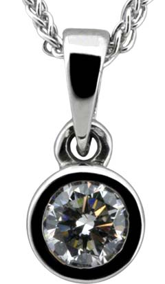 0.21ct Diamond Pendant in 18ct White Gold