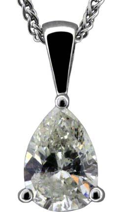 0.86ct Diamond Pendant in 18ct White Gold