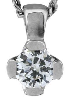 Modern Brilliant Cut Diamond Pendant in 18ct White Gold