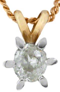 0.43 Diamond Pendant in 18ct Yellow Gold