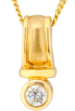 0.34 Diamond Pendant in 18ct Yellow Gold